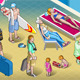 Isometric Tourists Peoples Set at Resort - GraphicRiver Item for Sale