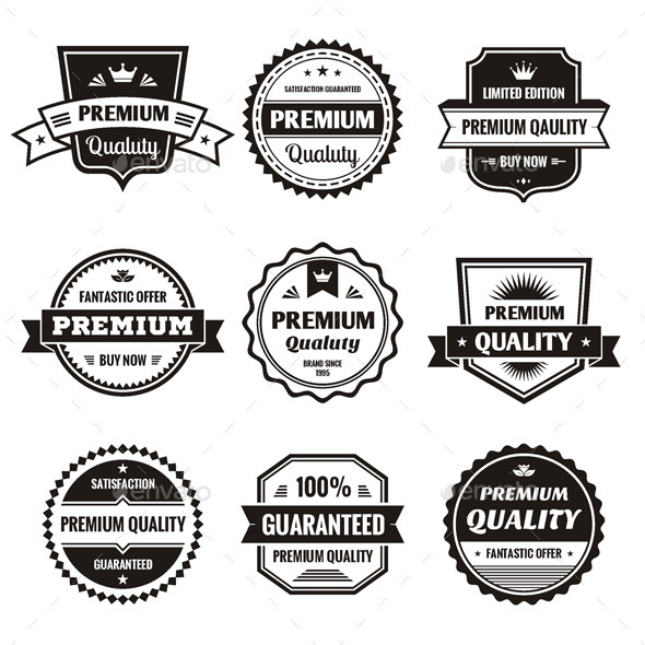 GraphicRiver 9 Labels and Badges Vector Set 9981044