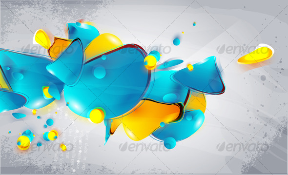 GraphicRiver Abstract form bubbles in the style of graffiti 126473