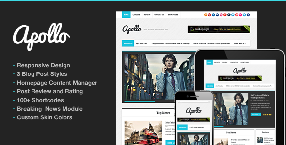 Apollo Modern Magazine Newspaper Template - News / Editorial Blog / Magazine