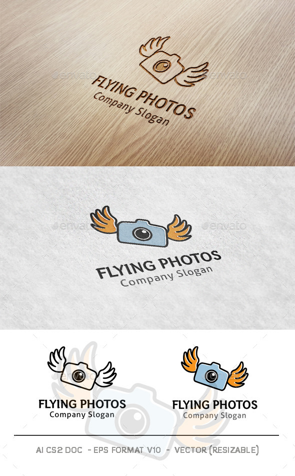 GraphicRiver Flying Photos Logo 9981903