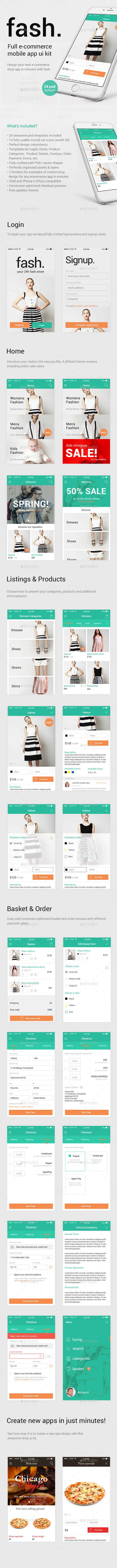 Fash A Mobile E-Commerce Shop UI Design Kit
