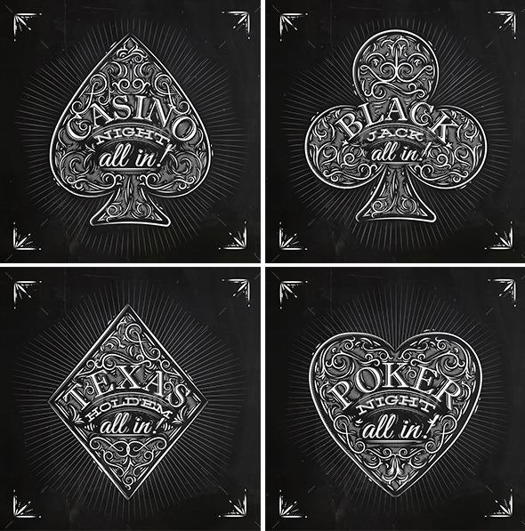 GraphicRiver Casino Signs chalk 9963253