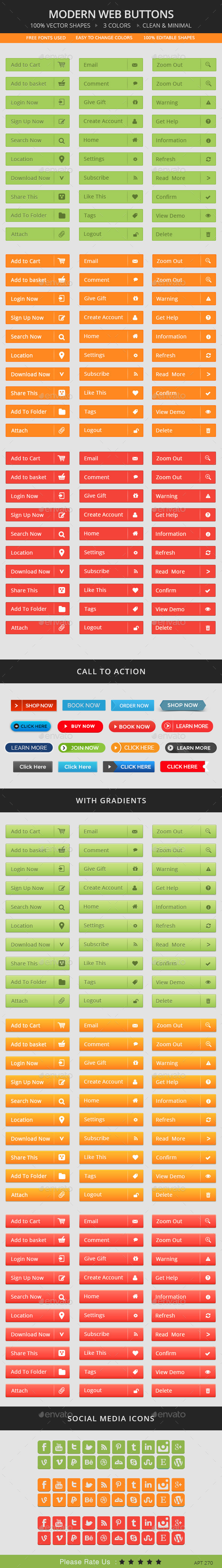 GraphicRiver Modern Web Buttons 9982275