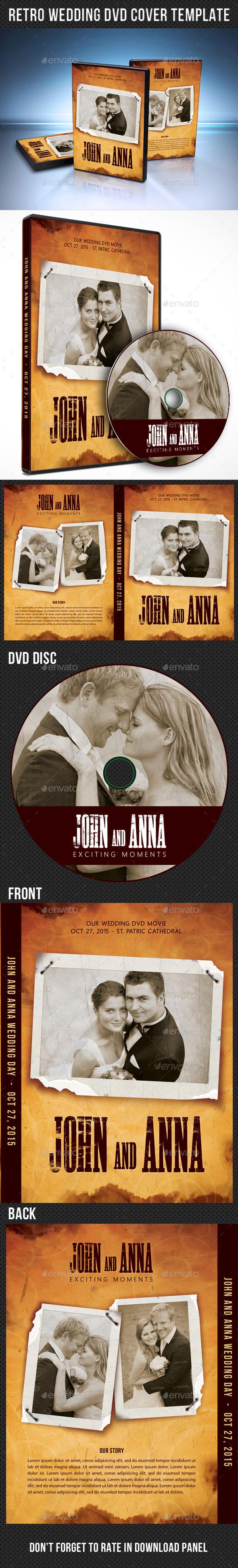 GraphicRiver Retro Wedding DVD Cover Template 04 9982286