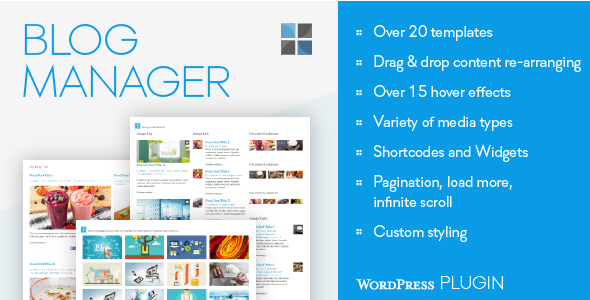 CodeCanyon Blog Manager for WordPress 9982292