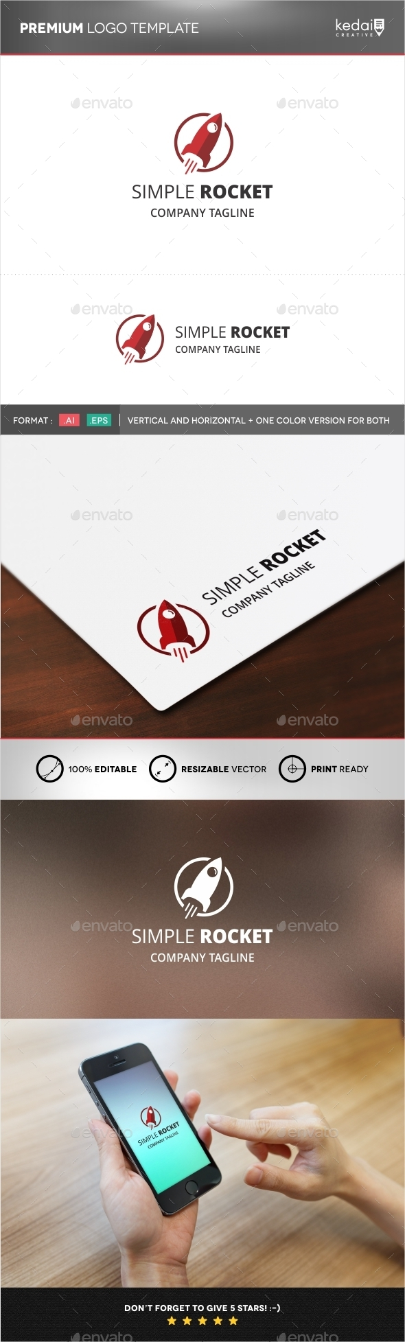 GraphicRiver Simple Rocket 9982322