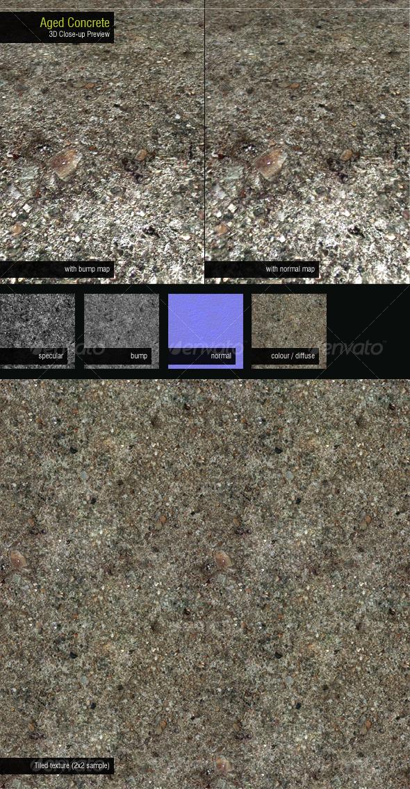 3DOcean Aged Concrete 126483