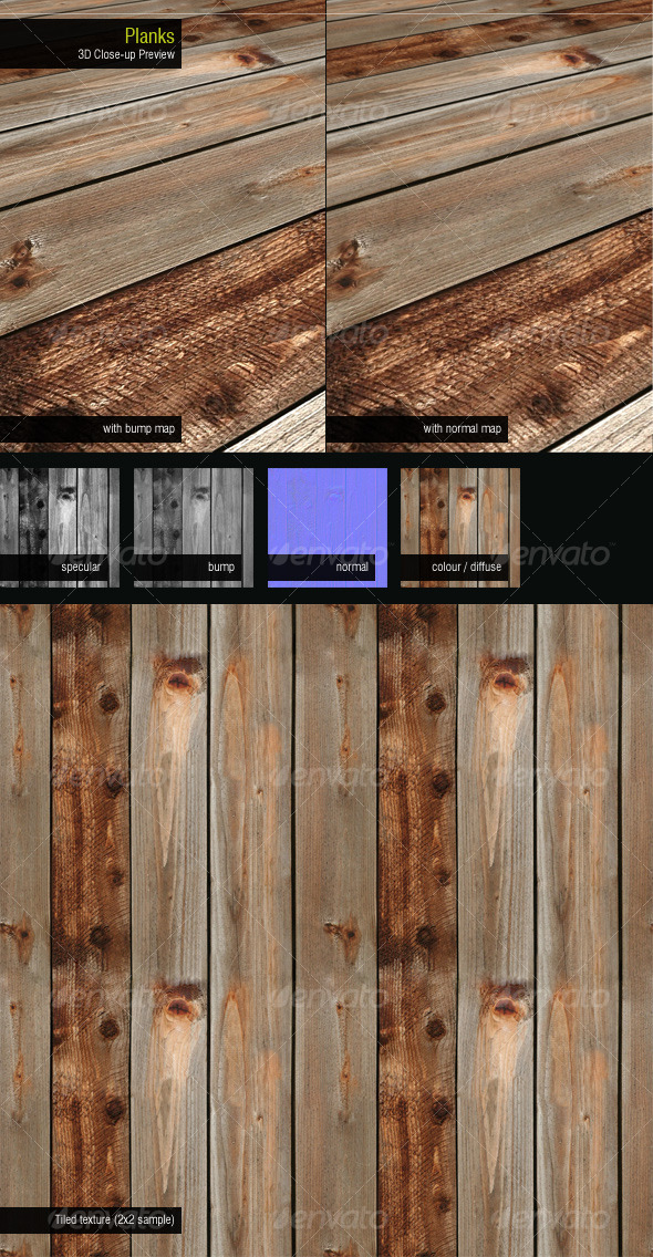 3DOcean Planks 126488