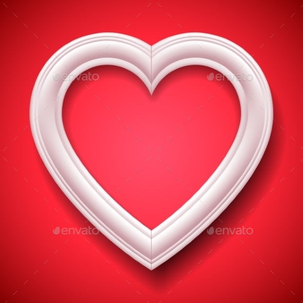 GraphicRiver Heart Shaped Picture Frame 9982733