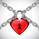 Red Heart Lock and Chains - GraphicRiver Item for Sale