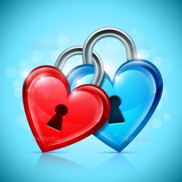 GraphicRiver Two Heart Locks 9982752