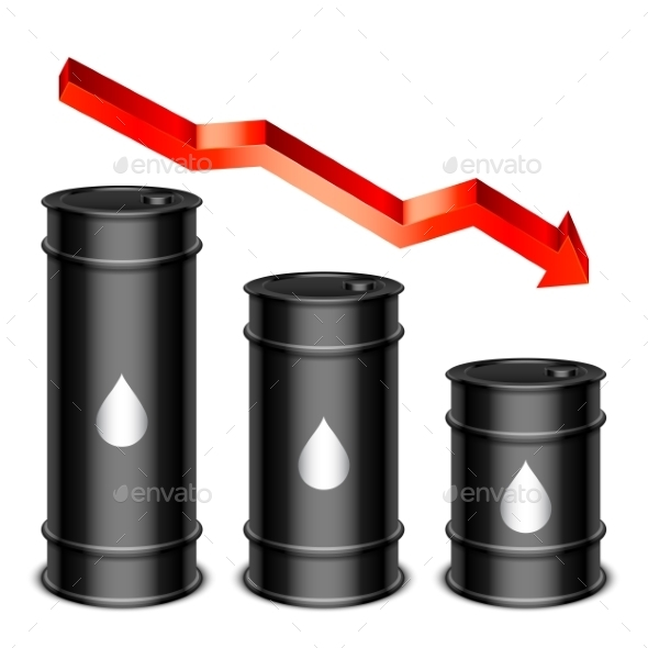 Falling Oil Price Concept