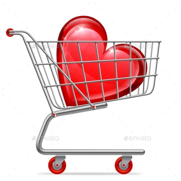 GraphicRiver Love Heart in Shopping Cart 9982887