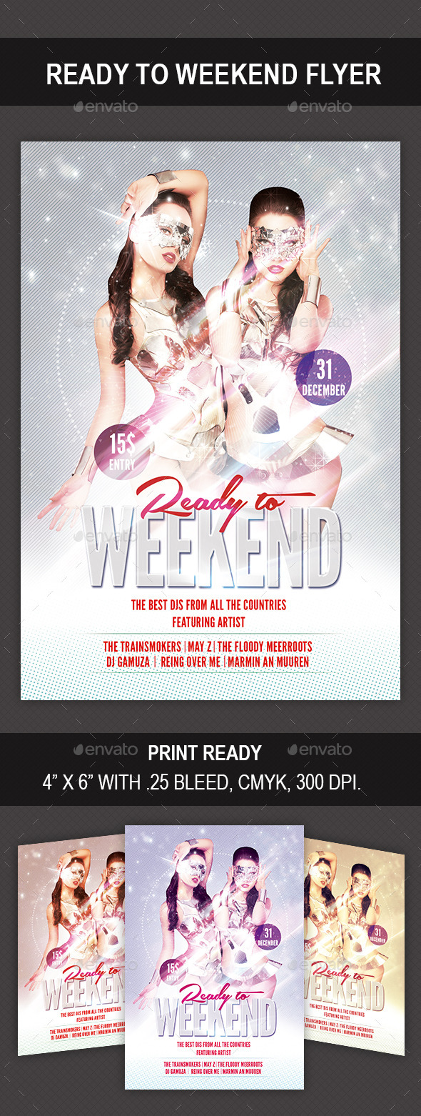 GraphicRiver Ready to Weekend Flyer 9983361