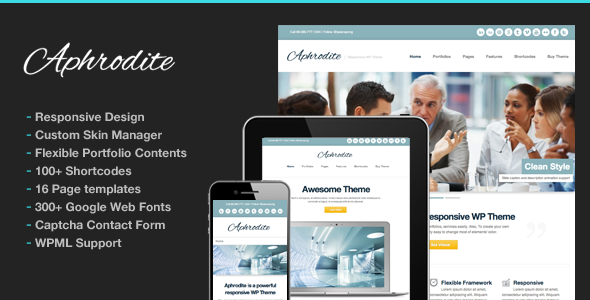 Aphrodite Responsive Corporate Business Portfolio