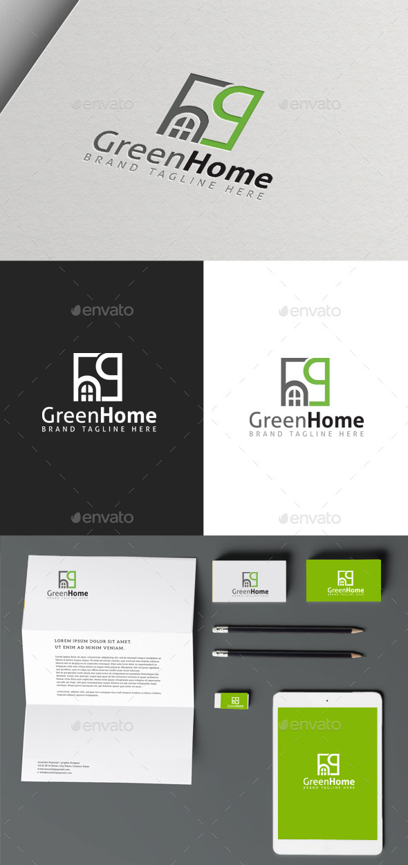 GraphicRiver Green Home 9983544