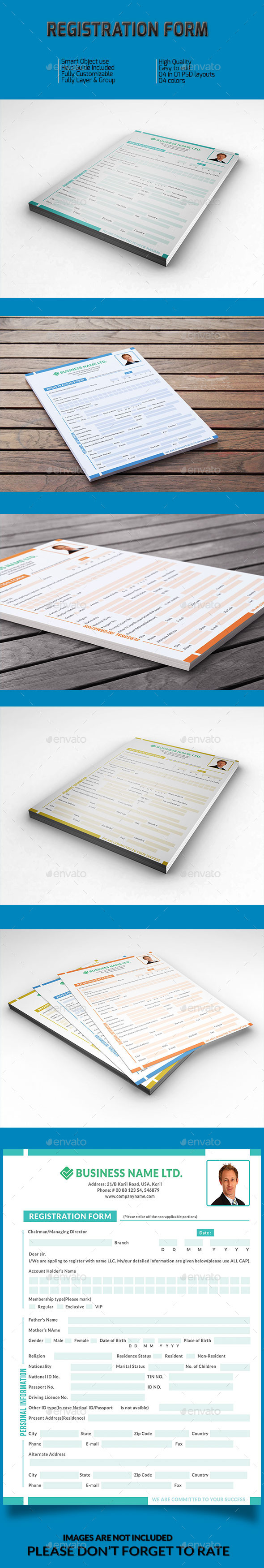 GraphicRiver Registration Form v-01 9984050