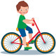 Boy on a Bicycle - GraphicRiver Item for Sale