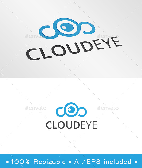 GraphicRiver Cloud Eye Logo 9984133