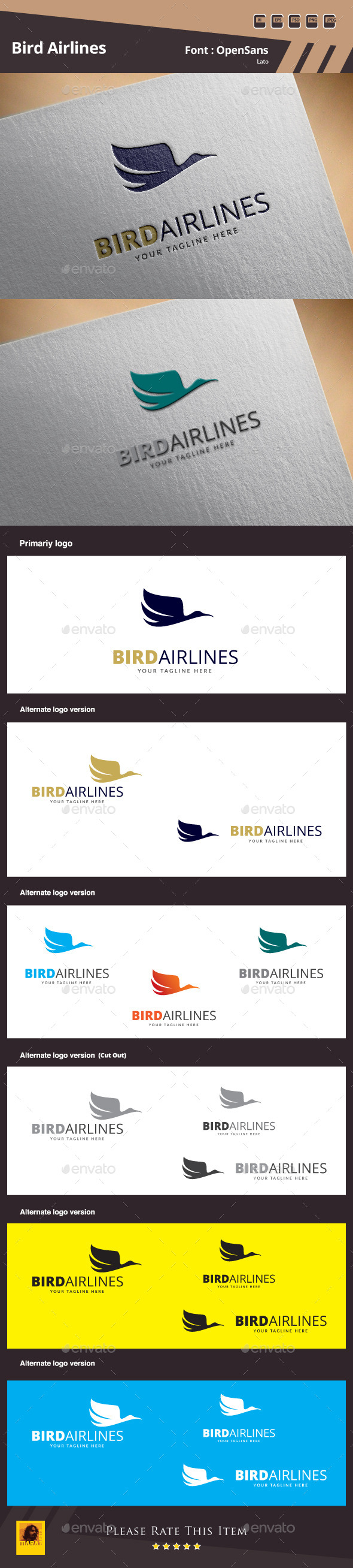 GraphicRiver Bird Airlines Logo Template 9984166