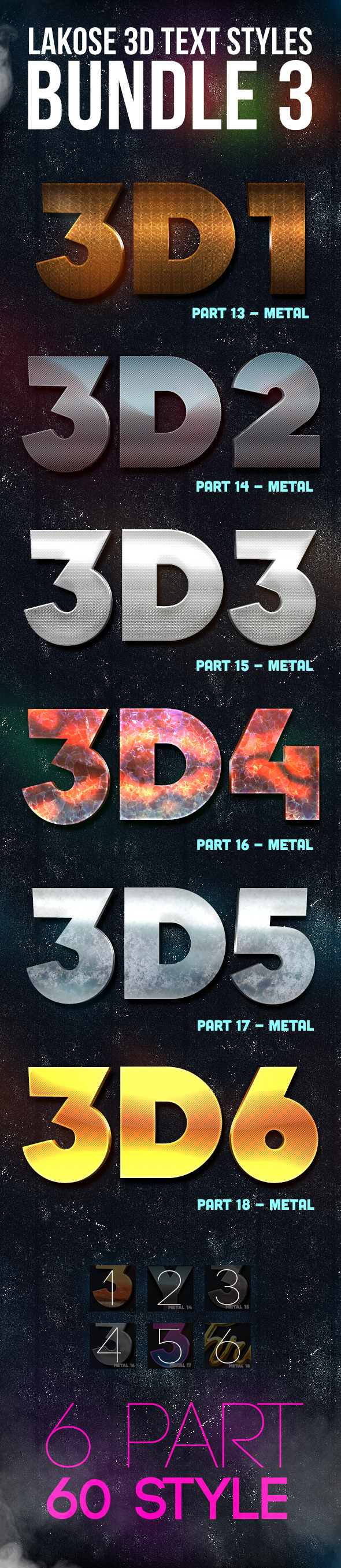 GraphicRiver Lakose 3D Text Styles Bundle 3 9984188