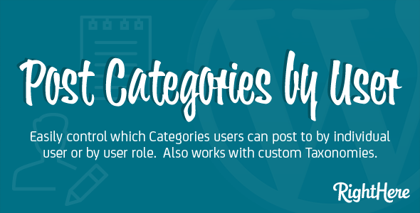 Post Categories by User for WordPress