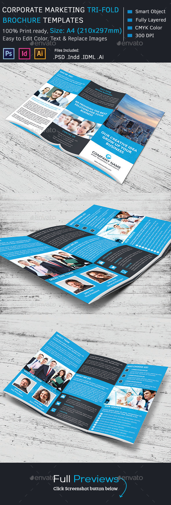GraphicRiver Corporate Marketing Tri-Fold Brochure 9984246