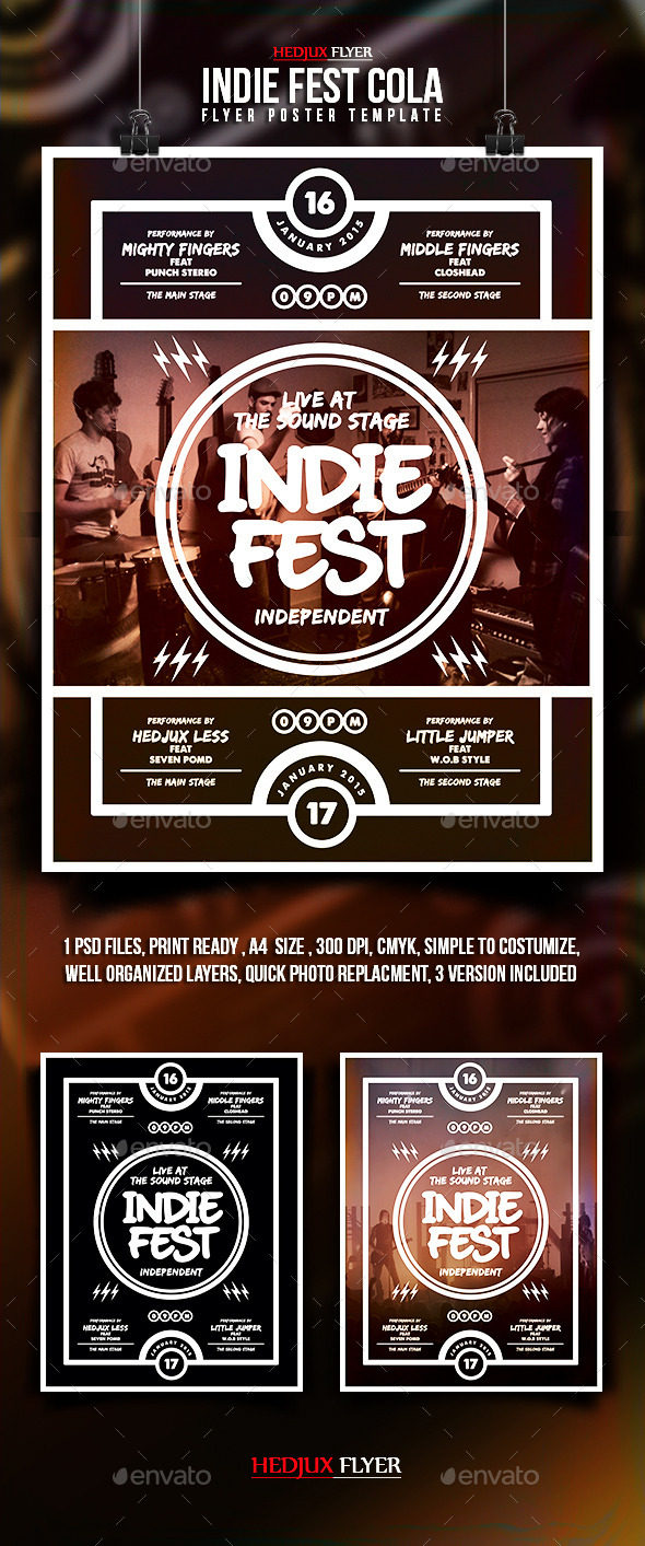 GraphicRiver Indie Fest Cola Flyer 9984296