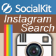 Instagram Search - for SocialKit - CodeCanyon Item for Sale