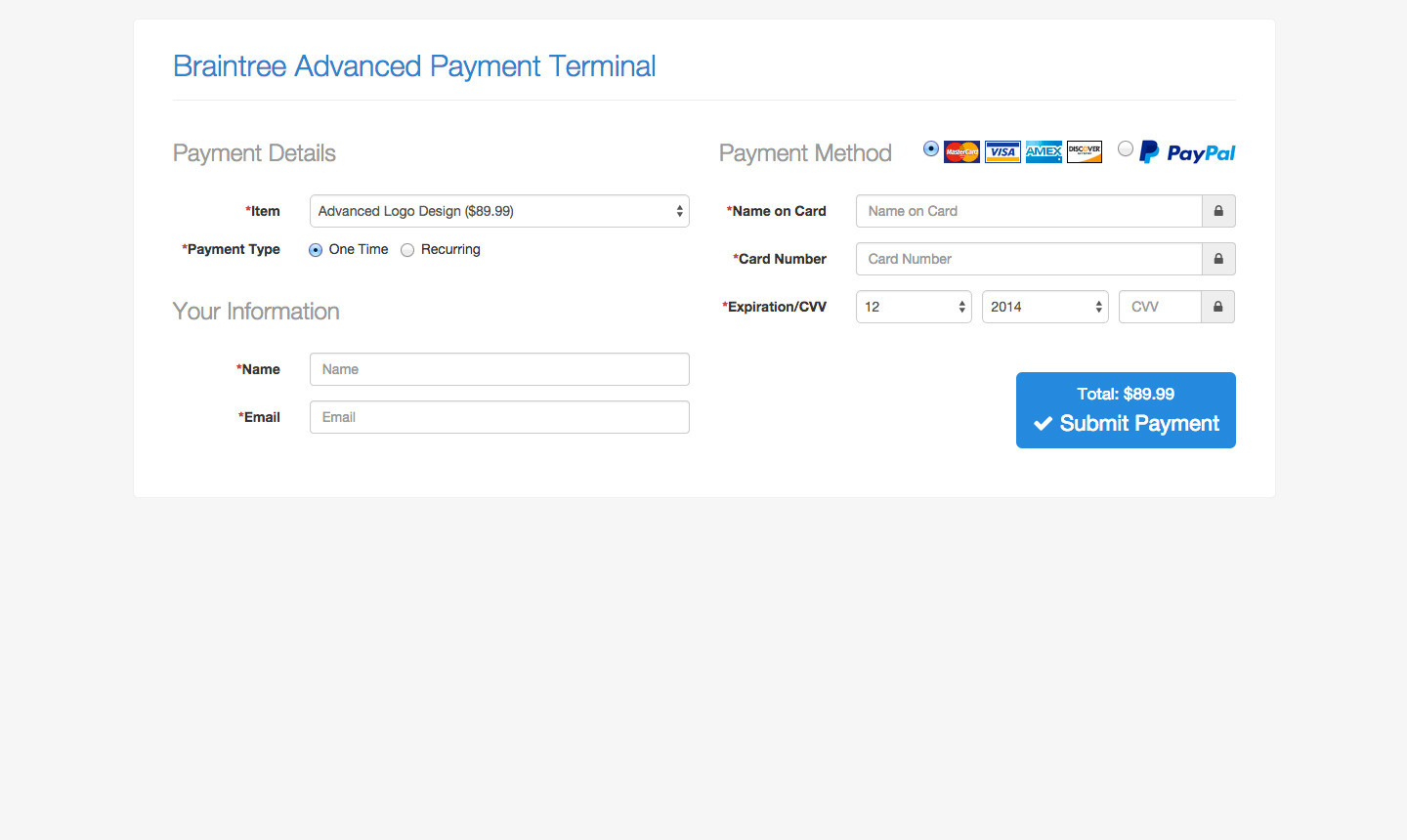 braintree advanced payment terminal by devinlewis codecanyon screen shots 1 jpg