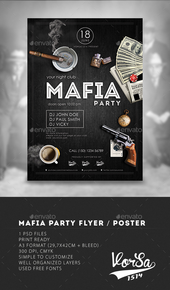 GraphicRiver Mafia Flyer Poster 9946763
