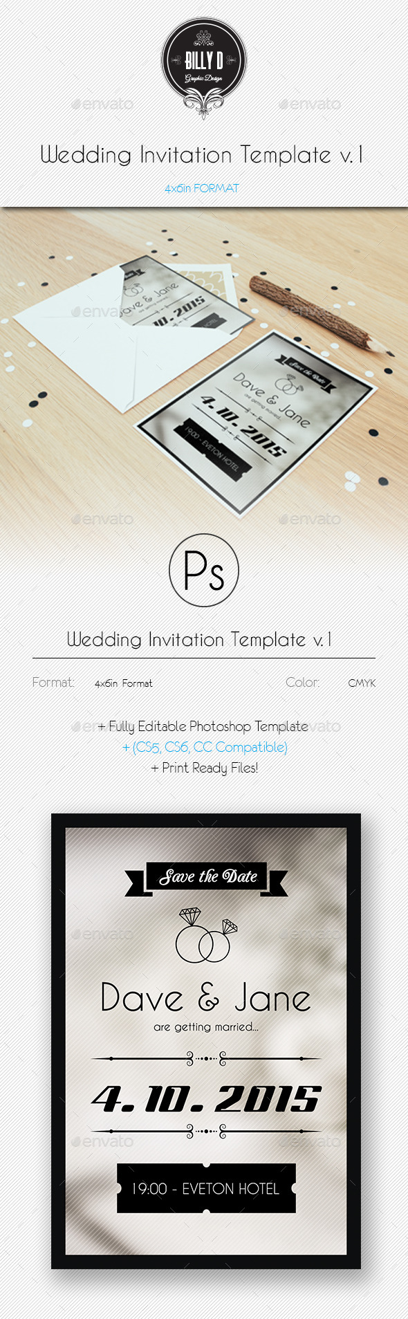 GraphicRiver Wedding Invitation Template v.1 9985078