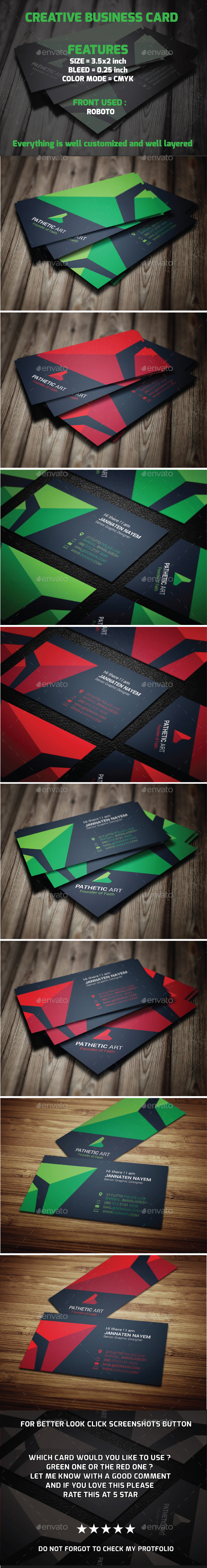 GraphicRiver Creative Business Card 9961906