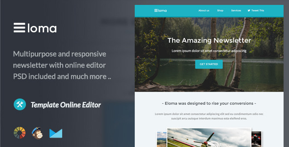 ThemeForest Eloma Email Template & Themebuilder Access 9985456