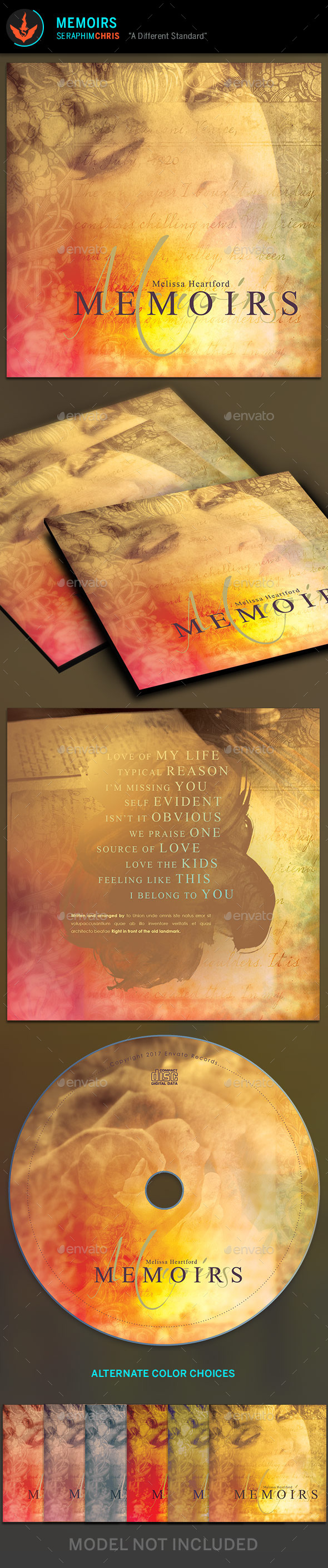 Memoirs CD Artwork Template