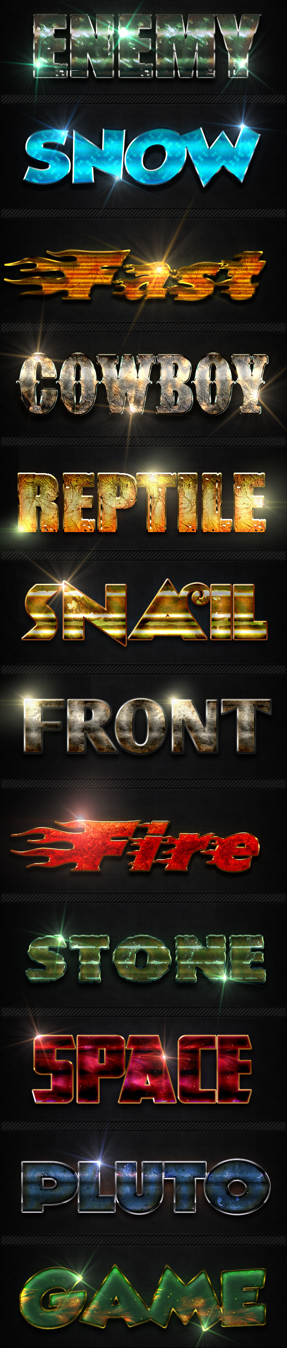 GraphicRiver 12 Photoshop Text Effect Styles 9985625