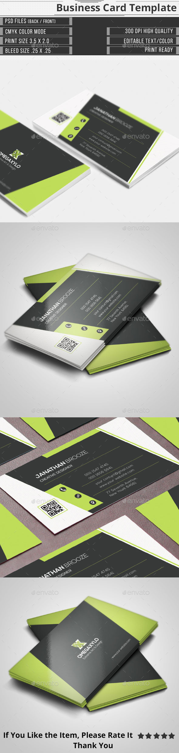GraphicRiver Clean Elegant Corporate Business Card 9986250