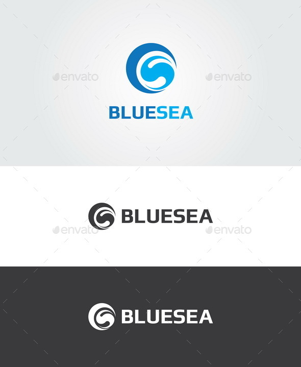 GraphicRiver Blue Sea Logo 9986252