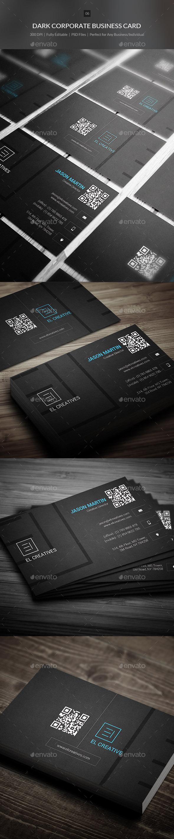 GraphicRiver Dark Corporate Business Card 06 9986288