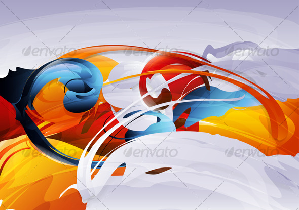 GraphicRiver Abstract vector graphic bright background 126514