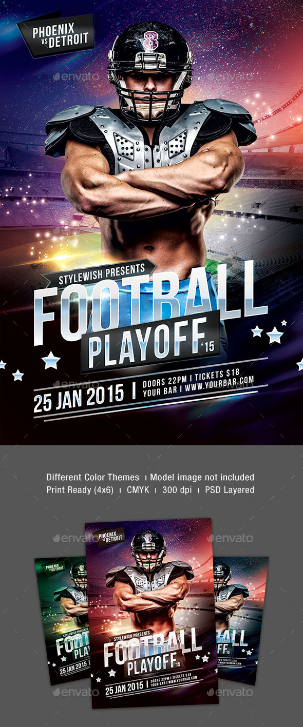 GraphicRiver Football Playoff Flyer 9986968