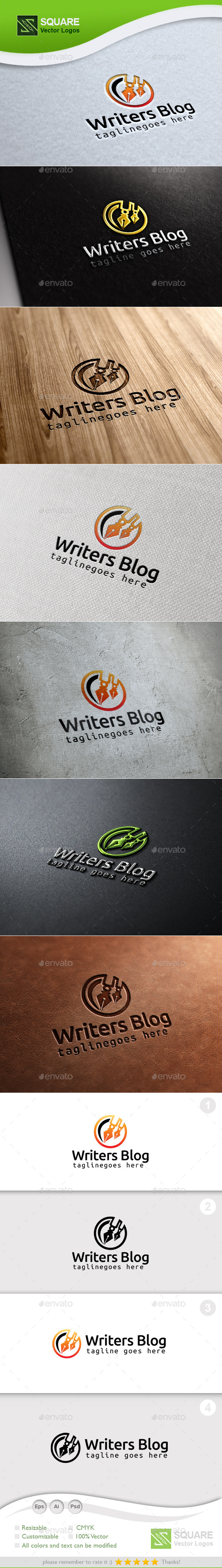 GraphicRiver Writer Blog Custom Logo Template 9987132