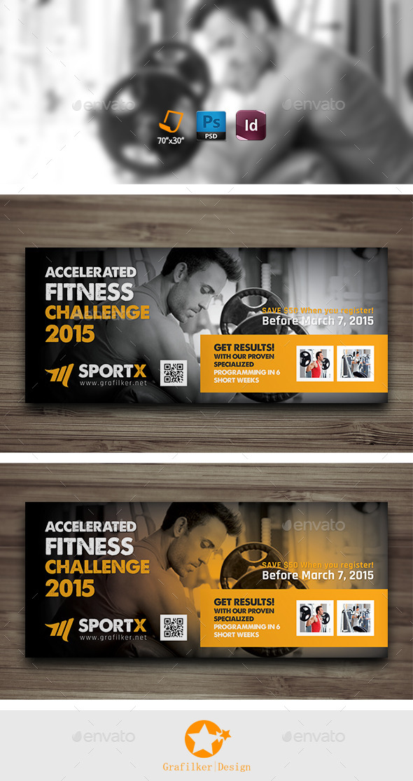GraphicRiver Fitness Center Billboard Templates 9987391