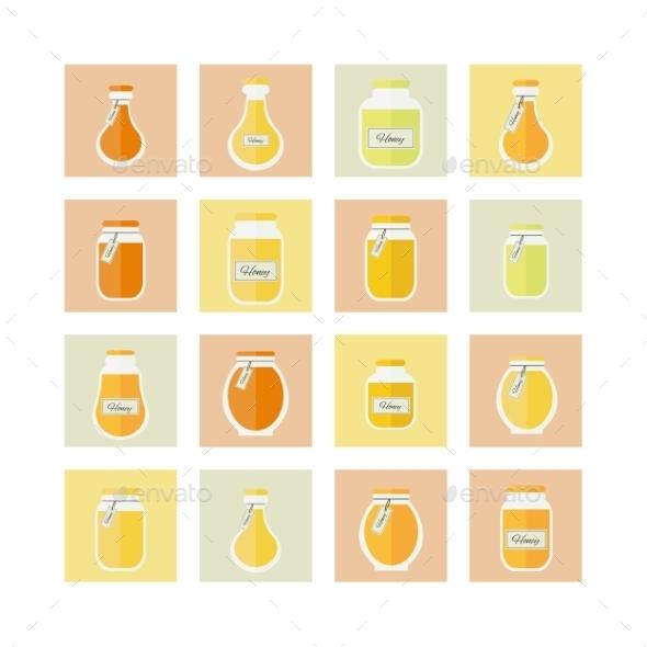 GraphicRiver Honey Jar Icons 9987402