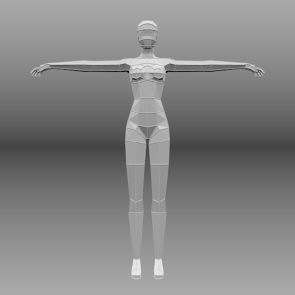 lowpoly female base mesh