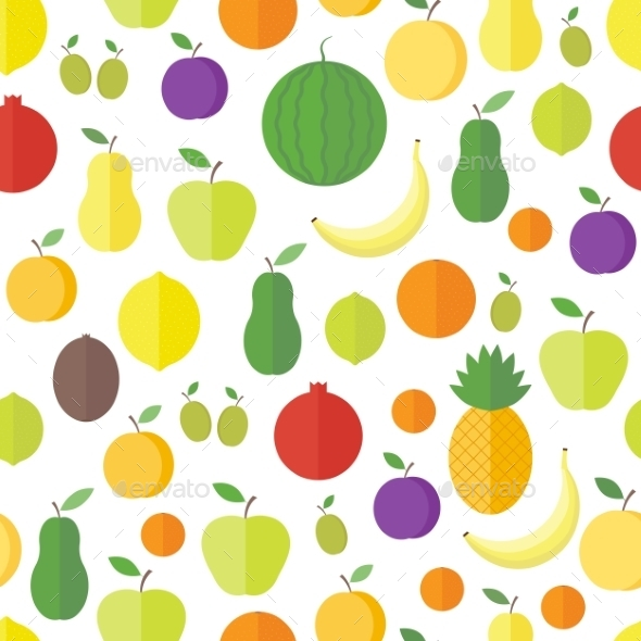 GraphicRiver Seamless Pattern with Fruits and Berries 9987463