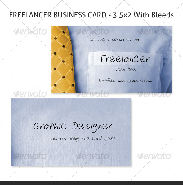 Freelancer Business Card - Industry Specific Business Cards