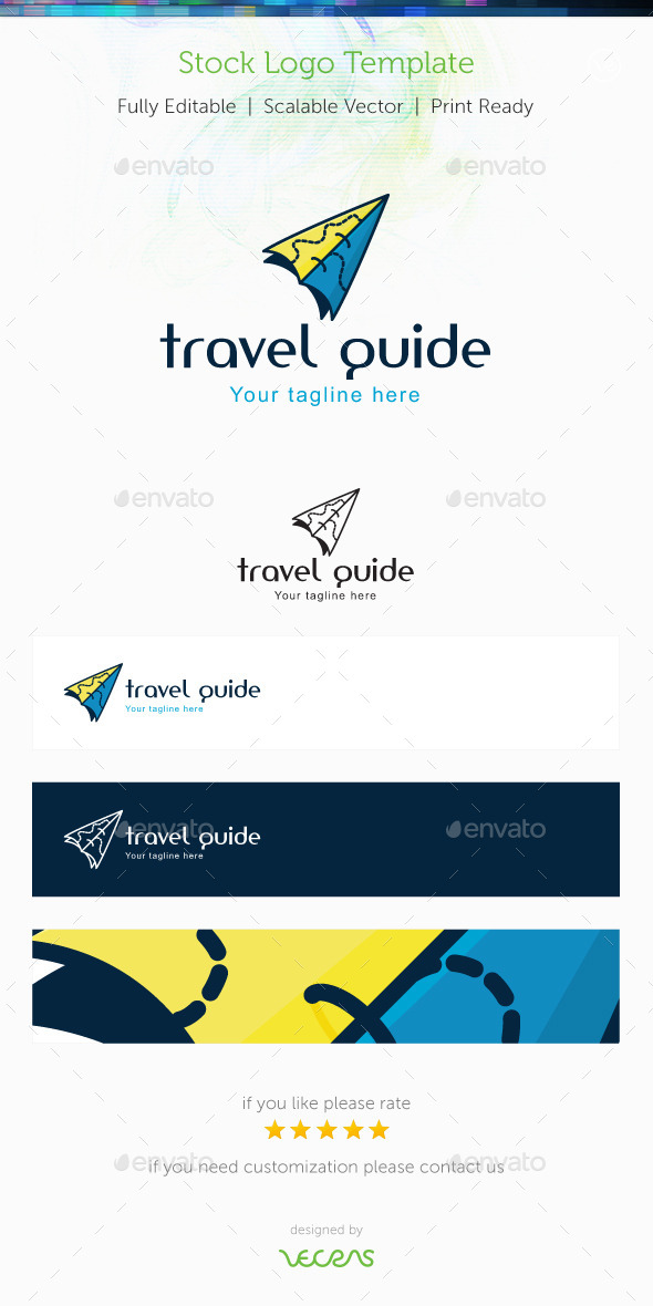 GraphicRiver Travel Guide Stock Logo Template 9987588