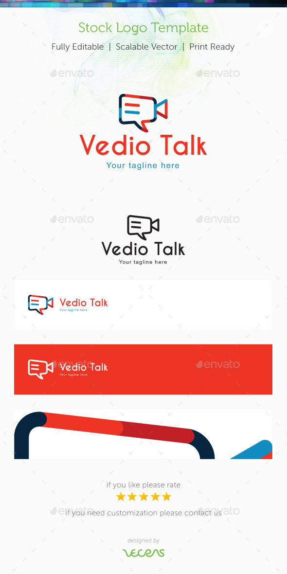 GraphicRiver Video Talk Stock Logo Template 9987640